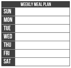 Weekly Meal Plan free template for Passion Planner. Made by Tessa Hettema. What to eat? Plan meals by printing this and add it to your weekly layout from Passion Planner.
