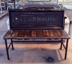 Tailgates bench...want to make for Lube Center