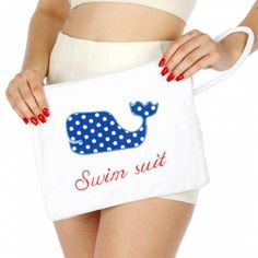 Knitting Factory Water Proof Wet Bikini Bag Selection (Whale White)  #KnittingFactory #Default