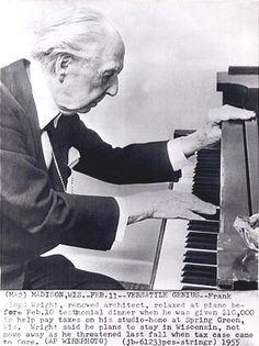 Wright enjoyed playing the piano but didn't believe he should. He said it wasn't something he had mastered. He would, of course, have enjoyed the piano concertos of Beethoven above all.