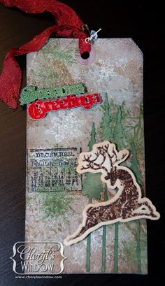 Christmas Tag Swap using Sizzix Eclips and Stamp2Cut @cheryl ng Boglioli