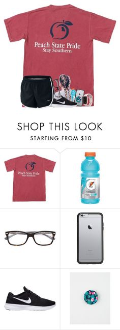 """""""no school tomorrow because of the hurricane"""" by s-henryy ❤ liked on Polyvore featuring NIKE, Gatorade, Ray-Ban, OtterBox and PopSockets"""