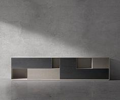 Architecture and Interior Design Cabinet Furniture, Home Furniture, Furniture Design, Tv Cabinets, Storage Cabinets, Muebles Living, Interior Architecture, Interior Design, Futuristic Furniture