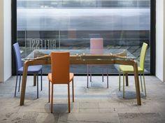 table en bois et verre par Riflessi