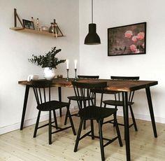 Ikea Dining Sets, Ikea Dining Table, Cozy House, Scandinavian Design, Minimalist Design, New Homes, Living Room, Interior Design, Bench Seat