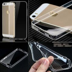 Ultra Thin Transparent Clear Soft Silicone Gel OR plastic iPhone Case Cover  35