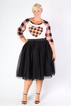 Plus Size Clothing for Women - Society+ Premium Tutu - Black (Sizes 1X & 6X Left!) - Society+ - Society Plus - Buy Online Now!