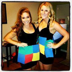 Rubik's cube costumes
