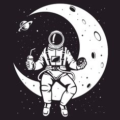 Images of astronaut drawing simple - Astronaut Drawing, Astronaut Illustration, Space Illustration, Space Drawings, Art Drawings, Astronauts In Space, Desenho Tattoo, Arte Pop, Cute Wallpapers