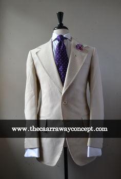 cream stripe blazer