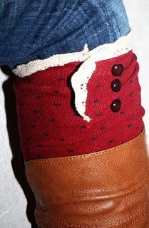 A Couple of Craft Addicts: Fun Find Friday-Boot Socks