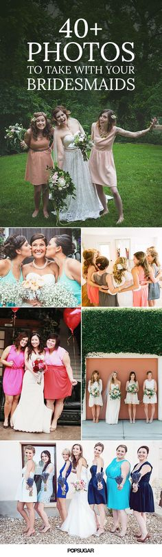 Wedding Photography Poses 40 Adorable Photos You Need to Take With Your Bridesmaids - Since your bridesmaids are the closest women in your life, it would be strange to take nothing but stiff, posed photos with them on your wedding day. Wedding Photography Inspiration, Wedding Inspiration, Photography Ideas, Dream Wedding, Wedding Day, Wedding Rustic, Wedding Beach, Casual Wedding, Wedding Album