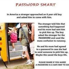 Password Smart kids parents back to school life hacks safety parenting tips Parenting Done Right, Kids And Parenting, Parenting Hacks, Parenting Goals, Parenting Styles, Simple Life Hacks, Useful Life Hacks, All Family, Baby Kind
