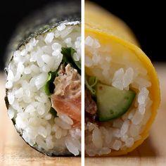 もうすぐ節分!2種の手作り恵方巻き Buzzfeed Food Videos, Buzzfeed Tasty, Easy Healthy Recipes, Asian Recipes, Sushi Roll Recipes, Aesthetic Food, Diy Food, Soul Food, Food Hacks