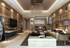 Fashionable Modern Living Room Design 2015 - http://www.formsbench.com/fashionable-modern-living-room-design-2015/ : #LivingRoomDesign Minimalist trend is perfect for getting decorate modern living room design 2015, Fostering the use and combination of spot colors, spatial brightness, amplitude, and furniture with simple lines without volumes. There are certain shades that will help you create a more modern space and elegant....