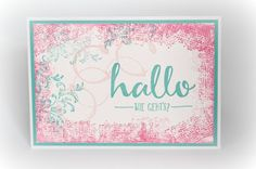 by Keksie: Hallo, Timeless Textures, SAB 2016, Karte Stampin up