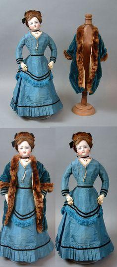 "Stunning 17 5"" Poupee by Antique Jumeau French Fashion Doll All Original Superb | eBay"