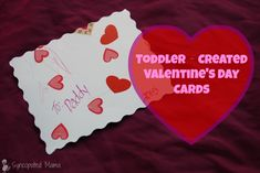 Syncopated Mama: Toddler‐Made Valentine's Day Cards (& What You Can Do if You're in a Pinch)