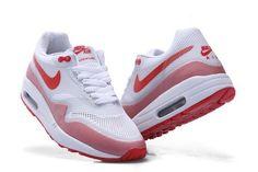 Bienvenue et acheter Nike Air Max 1 Hyperfuse Blanche/Rouge Homme Chaussures Vente