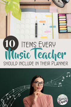 A new year means lots of people resolving to be more organized- this time of year makes me giddy! To get you started on the right foot this year, I've got my top 10 things for music teachers to include in their planner. How many of these do you have in your planner? All of these items are things that I have found very helpful to include in my planner and have, in most cases, been tracking in my planner for several years now with no plans to stop. Music Teachers, Teaching Music, Teaching Resources, Elementary Music, Teacher Hacks, Your Music, Lesson Plans, Back To School, I Am Awesome