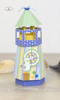 Doodlebug Design Inc Blog: Anchors Aweigh Collection: Lighthouse Favor Box by Corri