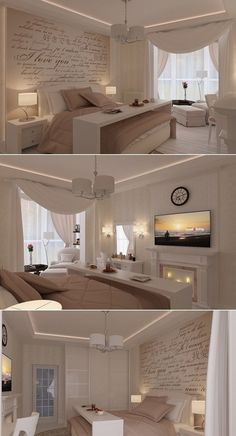 Cozy Romantic Bedroom Design Ideas For Comfortable Bedding - Master Bedroom - Bedroom Bedding Master Bedroom, Cozy Bedroom, Home Decor Bedroom, Bedroom Ideas, Bedroom Designs, Bedroom Wall, Bedroom Furniture, Furniture Ideas, Bed Room