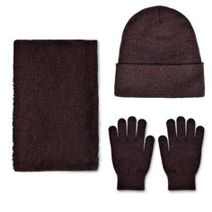 ee0d9488acb VBIGER Winter Knitted Set Knitted Hat Scarf Gloves for Men and Women