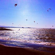 Kiteboarding Sherman Island, CA