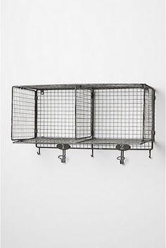 wire basket shelf knockoff tutorial