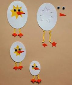 Charmingly Creative: Punch Art Duck, Cracked Egg & Chicken - So cute for a spring craft! Easter Art, Easter Crafts For Kids, Daycare Crafts, Preschool Crafts, Spring Crafts, Holiday Crafts, Egg Crafts, Paper Crafts, Chicken Crafts