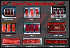1964-1973 Tail Lights