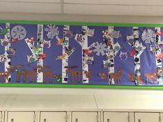 My school collaborative winter mural project