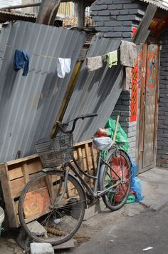 Bike and Laundry in a Hutong