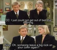 That time Niles called C.C. a vampire. | 17 Sassiest Moments From '90s TV Butlers