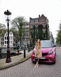 Who is up for a ride in a pink smart electric drive around Amsterdam? Girl Photography, Amsterdam, Battle, Electric, Street View, Pink, Instagram, Pink Hair, Roses