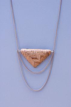 Chevron Triangle Necklace -- Timber Line Jewelry