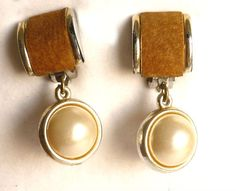 Vintage #Clipon Pearl #Earrings  Pearl Dangle by GrandmasDowry