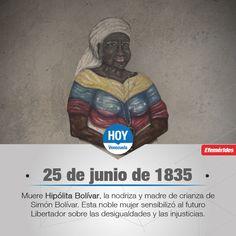Hace 180 años, murió Hipólita Bolívar, conocida como la Negra Hipólita, quien se encargó de amamantar al Libertador Simón Bolívar.