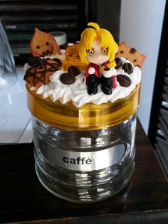 Fullmetal Alchemist coffee jar with handmade clay by Akindoonline