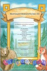 Matematiikkadiplomit 1-6 luokkalaisille