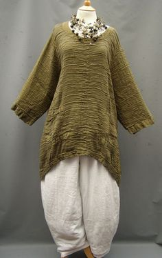 Grizas Spectacular Oversized Linen Silk Mix Crinkle Top 22 28 | eBay
