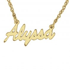 Simple Name Necklace - $120.00