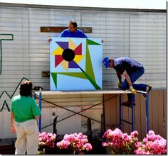 from the Franklin County Quilt Trail in GA, Friendship Flower