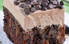 Σοκολατένιο κέικ σιροπιαστό με ζαχαρούχο γάλα και σοκολάτα
