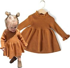 This is a link to Amazon and as an Amazon Associate I earn from qualifying purchases. Simplee kids Little Girls' Long Sleeve Cozy Casual Ribbed Knit Sweater Dress #babygirldresses #babyclothes Little Girl Dresses, Little Girls, Girls Dresses, Baby Outfits Newborn, Baby Boy Outfits, Baby Clothes Storage, Designer Baby Clothes, Baby Dress Patterns, Knit Sweater Dress