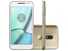 Smartphone Motorola Moto G 4ª Play DTV Edição - Especial 16GB Dourado Dual Chip 4G Câm. 8MP  de R$ 929,90 por R$ 899,90 em até 9x de R$ 99,99 sem juros no cartão de crédito  ou R$ 791,91 à vista