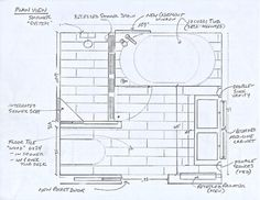 standard 9ft x 7ft master bathroom floor plan with bath and shower rh pinterest com