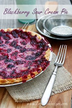 Blackberry Sour Cream Pie | My family's all-time favorite pie! Plus it's so easy and has just a handful of ingredients. #recipe