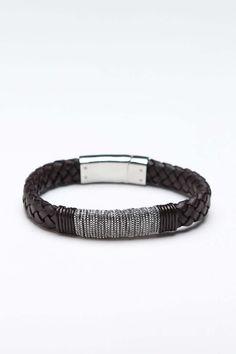Bangle bracelet leather