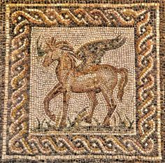 Mosaico Romano, Pegaso - Museo Arqueológico de Córdoba